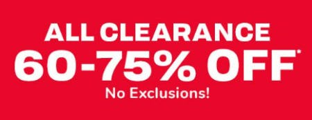 All Clearance 60-75% Off