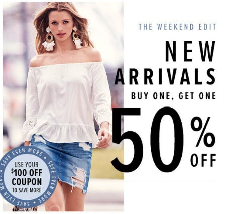 New Arrivals Buy One, Get One 50% Off from New York & Company