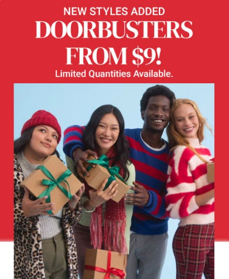 Doorbusters from $9 from Forever 21