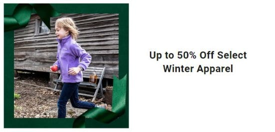 Up to 50% Off Select Winter Apparel