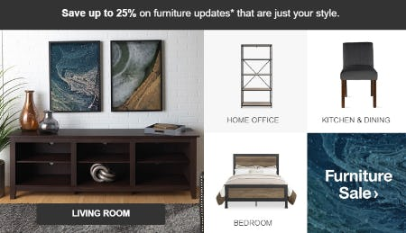 Up to 25% Furniture