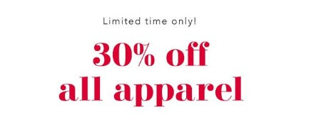 30% Off All Apparel from Aerie