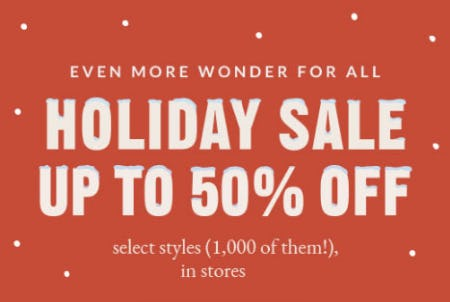 Up to 50% Off Holiday Sale from Coach