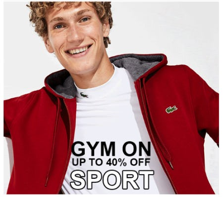 Up to 40% Off Sport from Lacoste