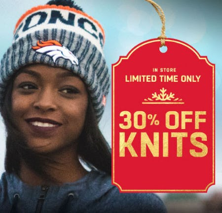 30% Off Knits