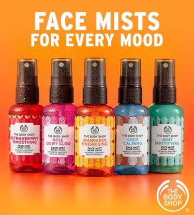 Face Mists for Every Mood from The Body Shop