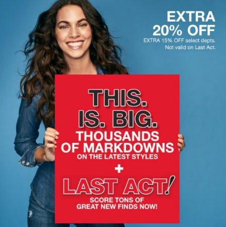 Extra 20% Off 1000's of Markdowns from macy's