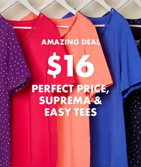 $16 Tees from Catherines Plus Sizes
