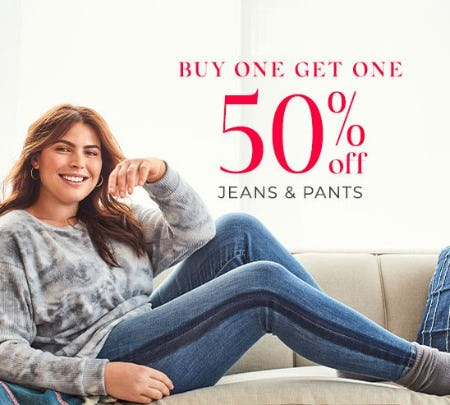 Buy One, Get One 50% Off Jeans & Pants from Lane Bryant