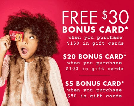 Up to $30 Free Bonus Card from DSW Shoes