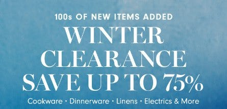 Winter Clearance: Save up to 75% from Williams-Sonoma