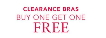 Clearance Bras Buy One, Get One Free from Cacique