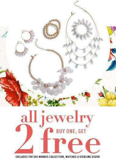 All Jewelry Buy One, Get 2 Free