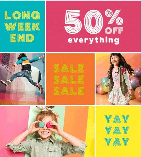 50% Off Everything from Gymboree