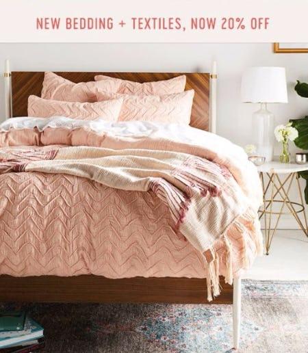 20% Off New Bedding & Textiles