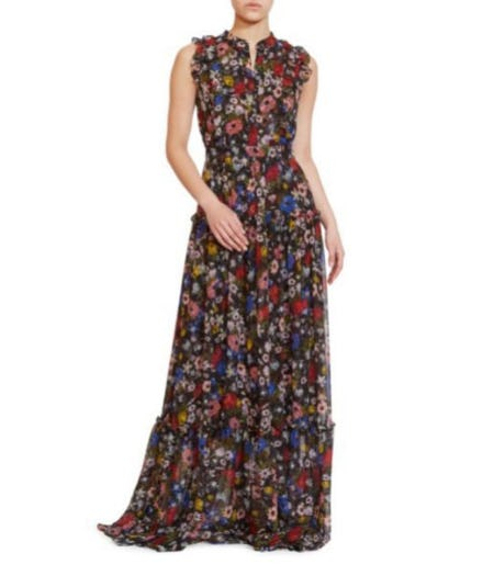 Erdem Ava Sleeveless Silk Gown At Saks Fifth Avenue Fashion Show