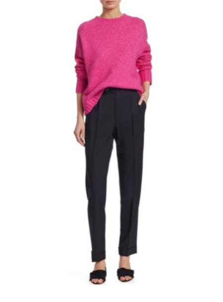 Helmut Lang Brushed Wool Crewneck Sweater from Saks Fifth Avenue