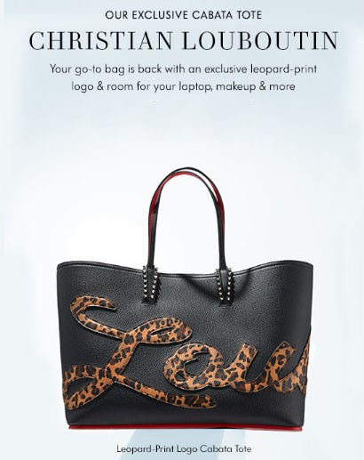 Our Exclusive Cabata Tote Christian Louboutin from Neiman Marcus