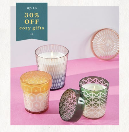 Up to 30% Off Cozy Gifts