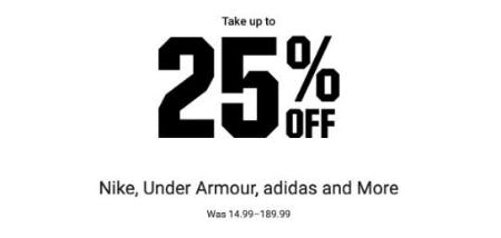 Up to 25% Off Nike, Under Armour, adidas and More from Dick's Sporting Goods