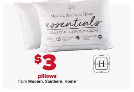 $3 Pillows from Belk