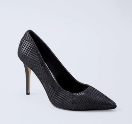 Olivia Houndstooth Suede Heels from White House Black Market