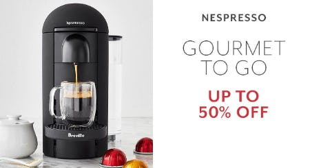 Up to 50% Off Nespresso from Sur La Table