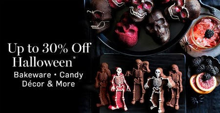 Up to 30% Off Halloween from Williams-Sonoma