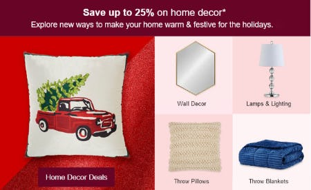Save Up to 25% on Home Decor from Target