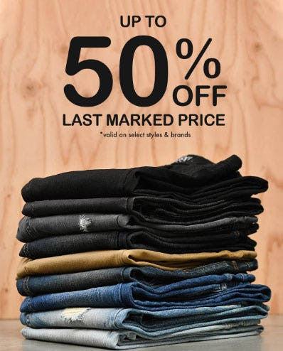 Up to 50% Off Sale Denim