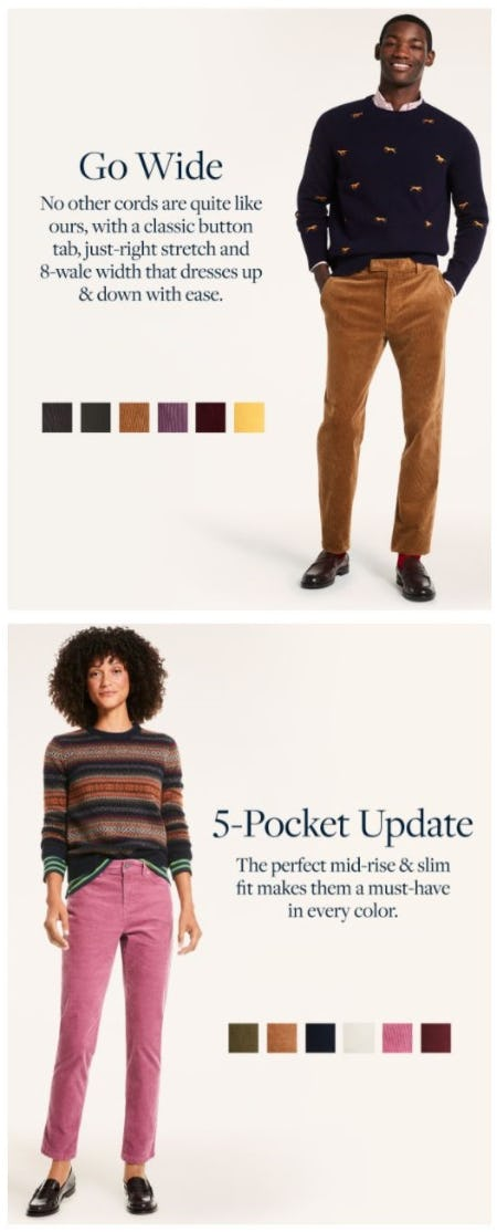 Introducing Our New Cords from Brooks Brothers
