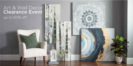 Up to 60% Off Art & Wall Decor Clearance Event