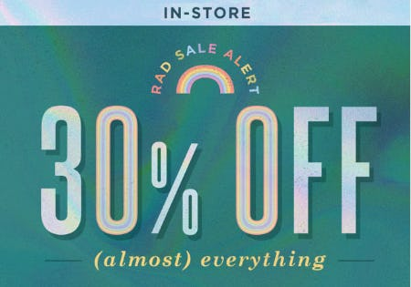 30% Off Almost Everything from Earthbound Trading Company