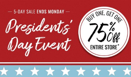 Presidents' Day Event from Things Remembered