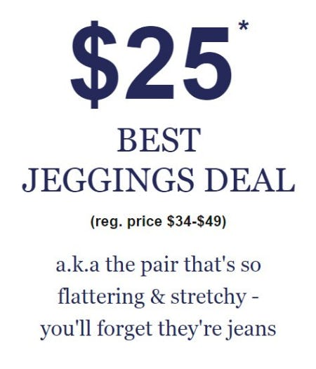 $25 Best Jeggings Deal from maurices