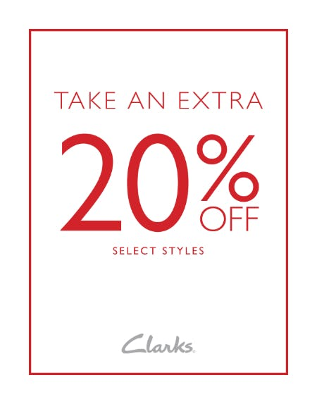 TAKE AN EXTRA 20% OFF SELECT STYLES from Clarks