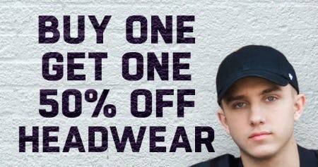 BOGO 50% Off Headwear from Lids