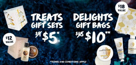 Treats Gift Sets $5 & Delights Gift Bags $10