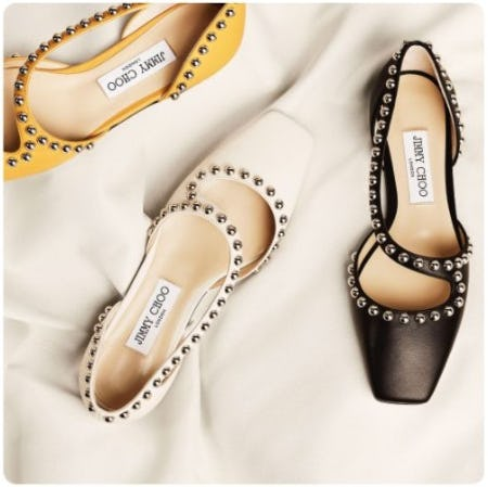 Flats with a Modern Twist from Jimmy Choo
