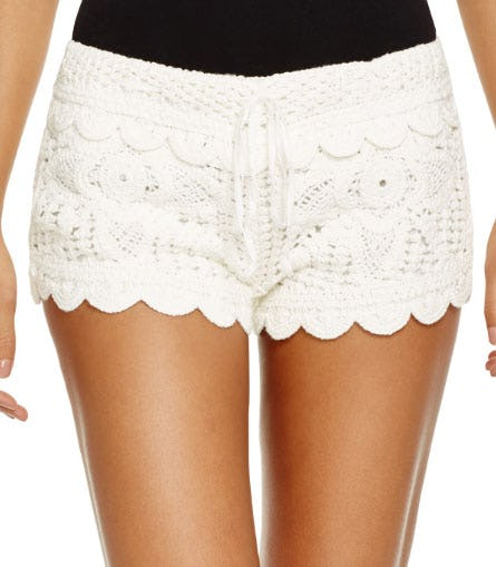 Surf Gypsy Crochet Swim Cover-Up Shorts from Bloomingdale's