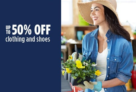 Up to 50% Off Clothing And Shoes