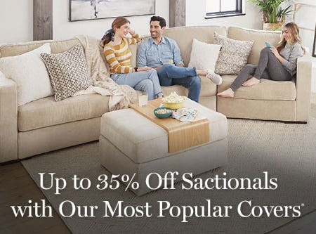 Up to 35% Off Sactionals with Our Most Popular Covers from Lovesac Alternative Furniture