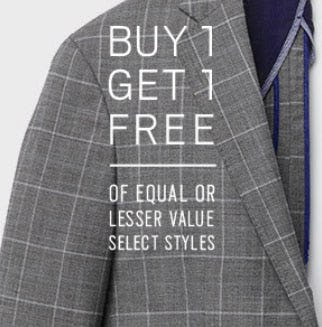 Buy 1 Get 1 Free Select Styles from Men's Wearhouse