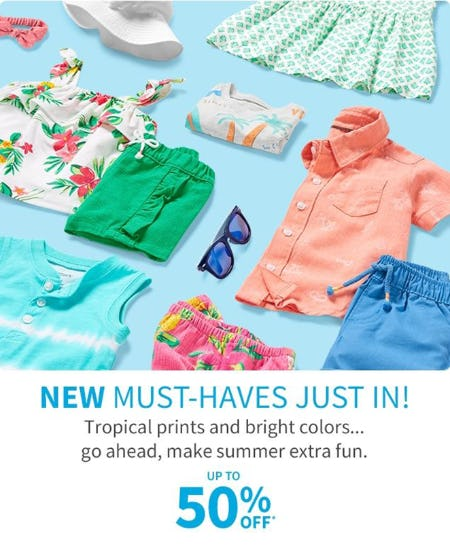 Up to 50% Off New Must-Haves from Carter's