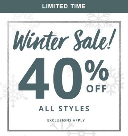 Winter Sale 40% Off