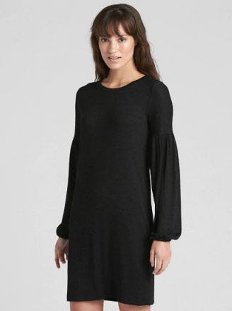 Softspun Balloon Sleeve T-Shirt Dress from Gap