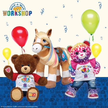 Parties on the 20th at Build-A-Bear Workshop!