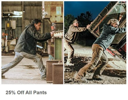 25% Off All Pants from Carhartt