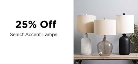 25% Off Select Accent Lamps from Kirkland's Home