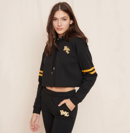Cut-Off Cropped Hoodie from Garage